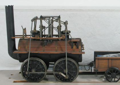 Model of the steam locomotive