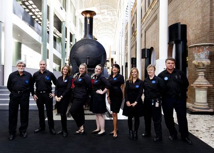 Photograph of Staff in front of Loco 1