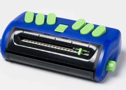 Photograph of Australian-made Braille note-taker, the Jot a Dot