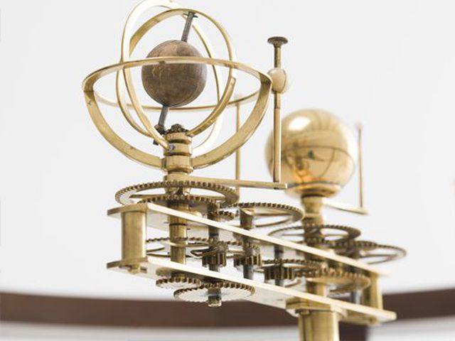 Orrery and stand, brass / timber / ivory, France, 1851–1877