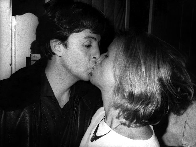 Paul and Linda McCartney, Abbey Road Studios London 1982. Image: Robert Rosen