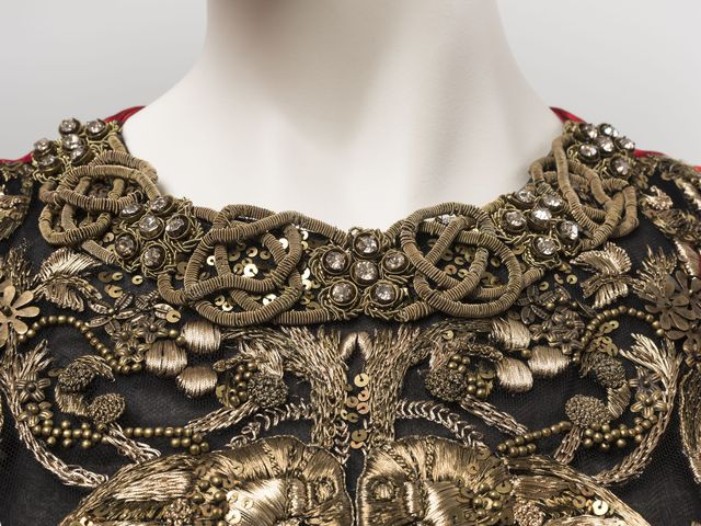 Evening dress, from 'Angels and Demons' collection, designed by Alexander McQueen, Great Britain, made in Italy, 2010