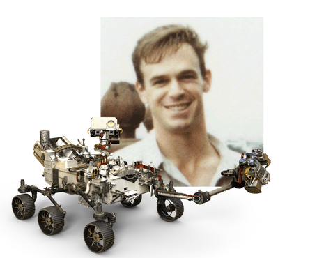 Dr Adrian Brown and the Perseverance rover