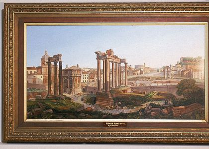 Painting of Roman ruins by Barzotti