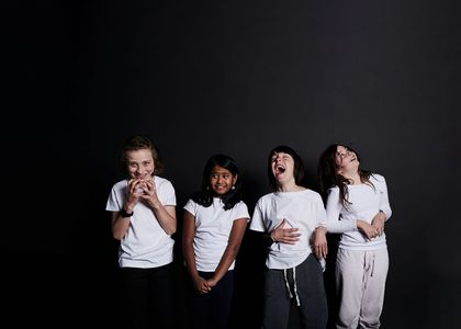 Group of four young performers, Shop Front Theatre