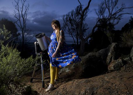 Karlie Noon has been appointed the Sydney Observatory's first astronomy ambassador. Canberra, August 20, 2020. Photo: Rhett Wyman/SMH