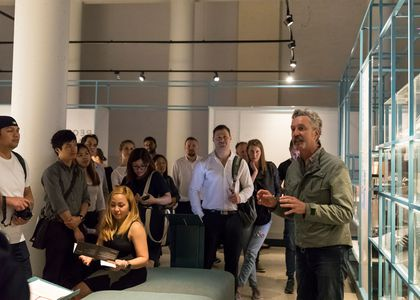 Curator led tour at the Powerhouse Museum.