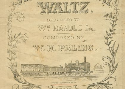 Cover of the sheet music for the 'Sydney Railway Waltz'