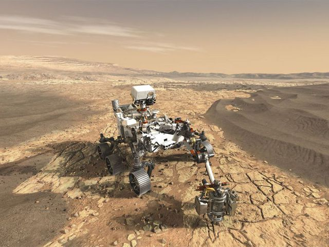 NASA rover on Mars