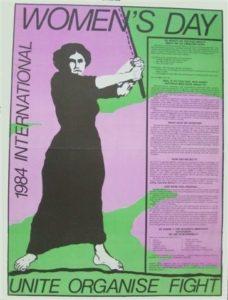 1984 Sydney International Women's Day poster. Photo: Marian Sawer