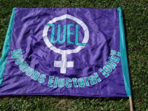 WEL banner from 1990s. Photo: Trish Saunders