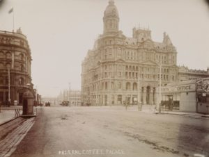 Photograph of the Federal Coffee Palace, photographed by Nettleton & Arnest Photographic Studio, Melbourne, c. 1890, Museum Victoria collection, MM 109758