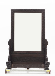 Photograph of a Chinese standing mirror. Click to view this object record on our Online Collection.