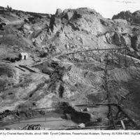 Sluice mining: washing the hills away