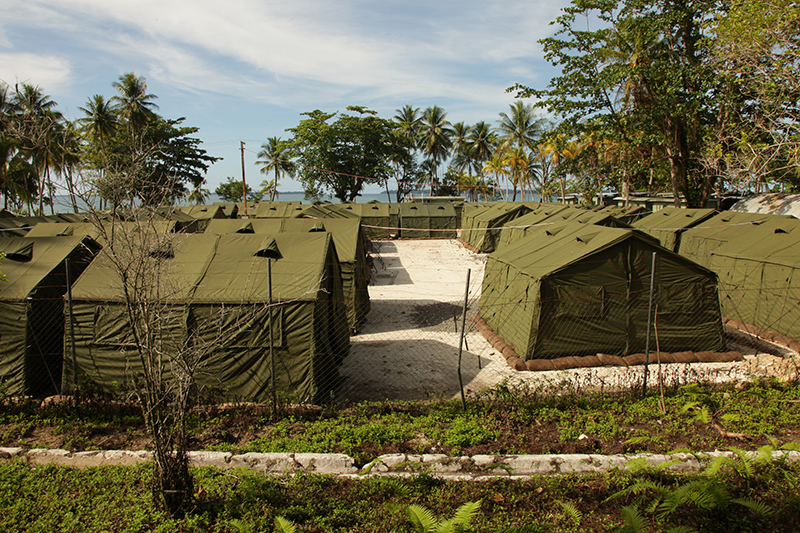 Tents at Manus Island regional processing facility, 2012