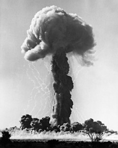 Atomic tests, Operation Antler (Maralinga), photographic evidence presented to the Royal Commission into British Nuclear Tests in Australia, 1985, National Archives of Australia collection, photograph P771