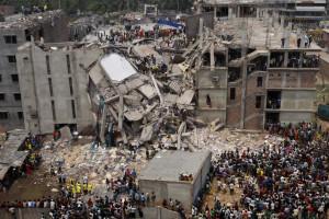 Savar building collapse in Rana Plaza, Bangladesh, 2013, photograph by Flickr user rijans.