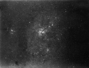 Photo of the stars of the Milky Way showing the area around Eta Carinae, 1890.