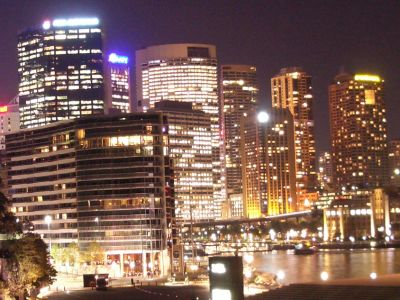 Sydney at night, photo by Nick Lomb
