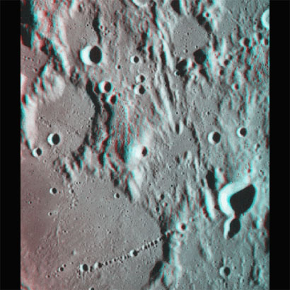 A crater chain on the Moon