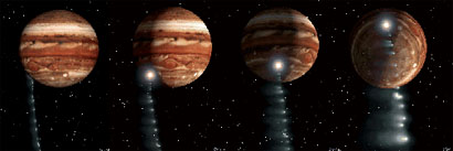 Comet Shoemaker-Levy 9 collisions with Jupiter