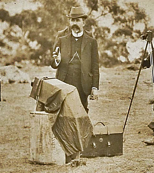 Walter Gale in Queensland preparing for the 1922 eclipse of the Sun