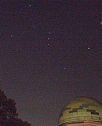 The constellation of Orion from Sydney Observatory. Photo Nick Lomb