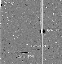 Jean-Louis Pons made the third (1805) and fourth (1818) discoveries of Comet Encke seen here with Comet ISON in late November 2013. Courtesy NASA
