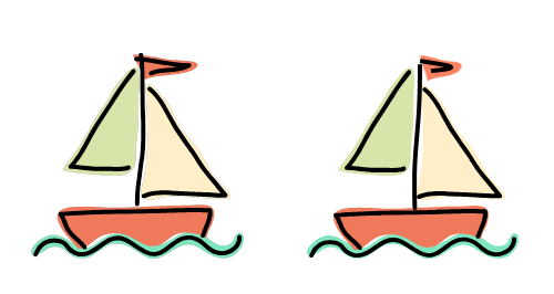 The direction of a flag or pennant on a sailing boat depends on a combination of the direction in which the boat is moving and the direction of the wind. Diagram Nick Lomb with help from Microsoft clipart