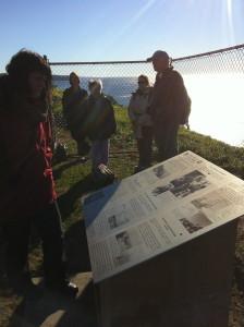 Miller Goss explains interferometry at the Radio Astronomy monument