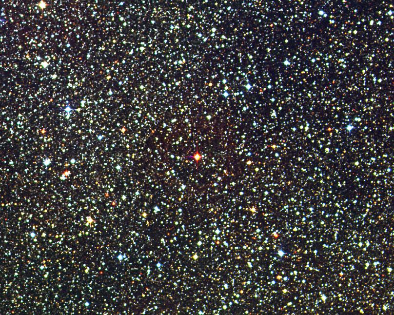 Proxima Centauri is a faint red dwarf flare star. David Malin, UKS, AAO, APOD