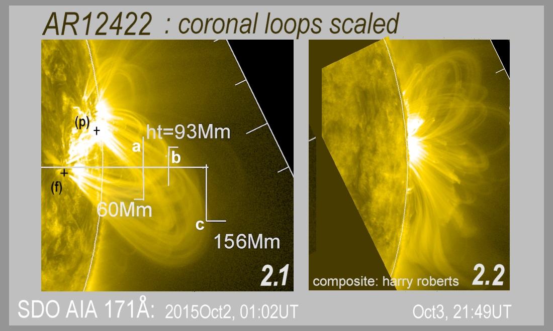 Coronal loops above AR12422