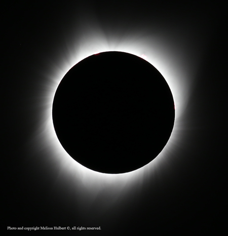 The Diamond Ring heralds the start of totality.