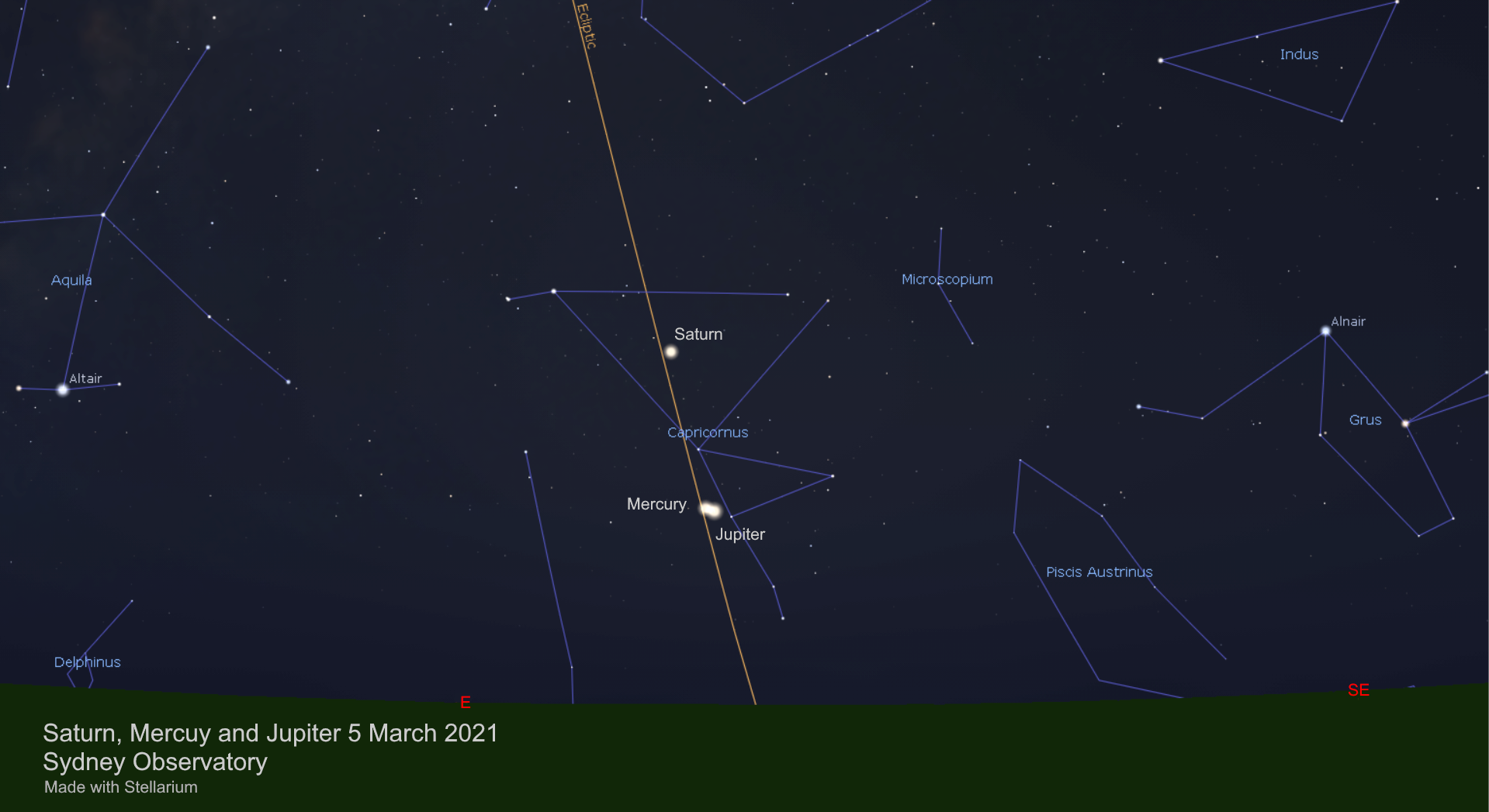Mercury and Jupiter (and Saturn)