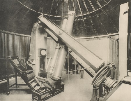 Star camera set up in observatory dome