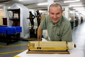 Matthew Connell with Thacher's Calculating machine