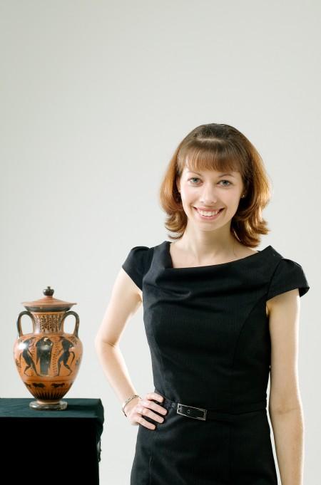 Portrait of curator Melanie Pitkin