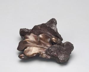 Molten metal shard from Queen Victoria's statue.