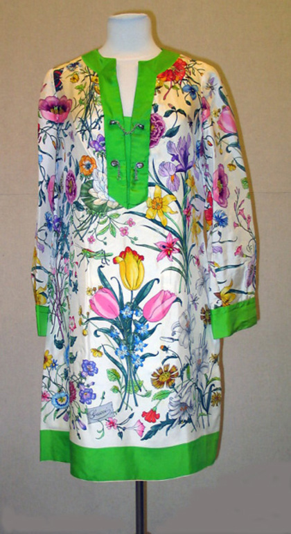 Womens silk dress designed by Gucci