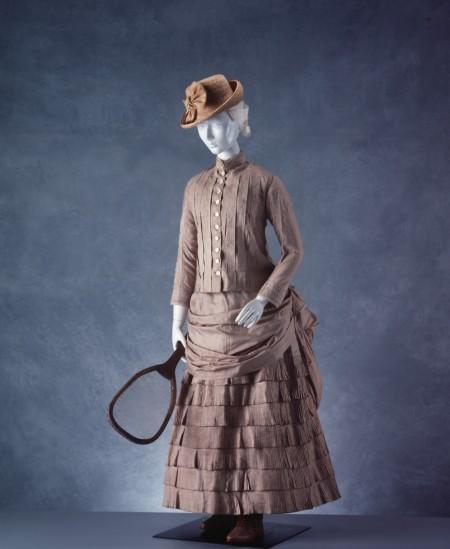 19th century women's tennis costume