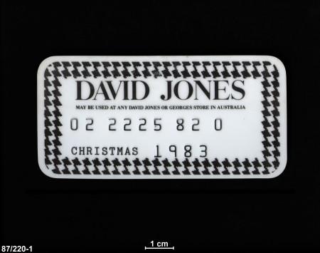 David Jones Christmas credit card