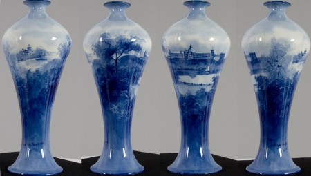 Various views of Doulton Vase