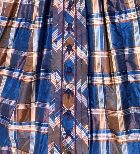 Detail, check silk day dress (A8072)
