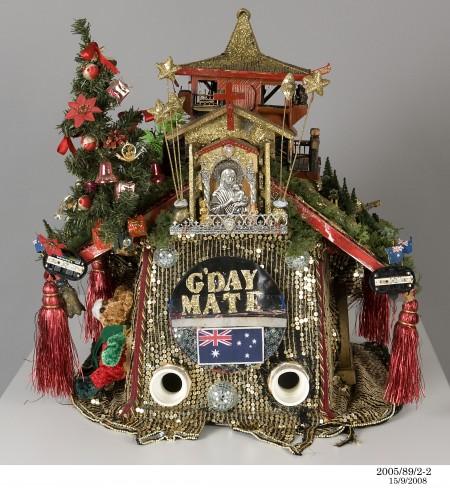 Ornamental Christmas dog kennel