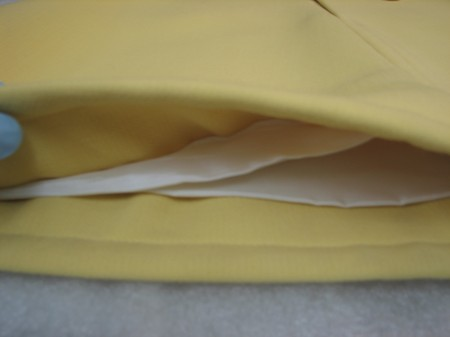 Courreges dress showing thickness