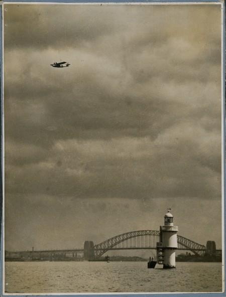 Frigate Bird II over Sydney Harbour on the 21st of April 1951