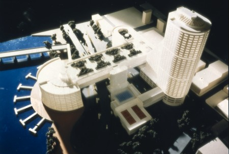 Model of a building by John Andrews