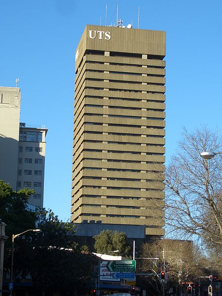 The UTS Tower on Broadway