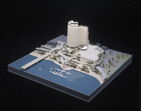 Model of a Darling Harbour casino and hotel designed by Harry Seidler
