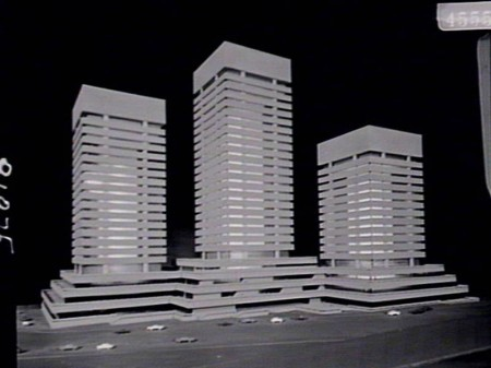 NSW Institute of Technology model featuring three towers